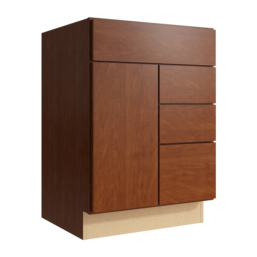 KraftMaid Momentum Sable Frontier 1-Door 3-Drawer Right Base Cabinet (Common: 24-in x 21-in x 34.5-in; Actual: 24-in x 21-in x 34.5-in)