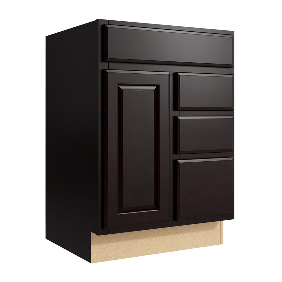 KraftMaid Momentum Kona Settler 1-Door 3-Drawer Right Base Cabinet (Common: 24-in x 21-in x 34.5-in; Actual: 24-in x 21-in x 34.5-in)
