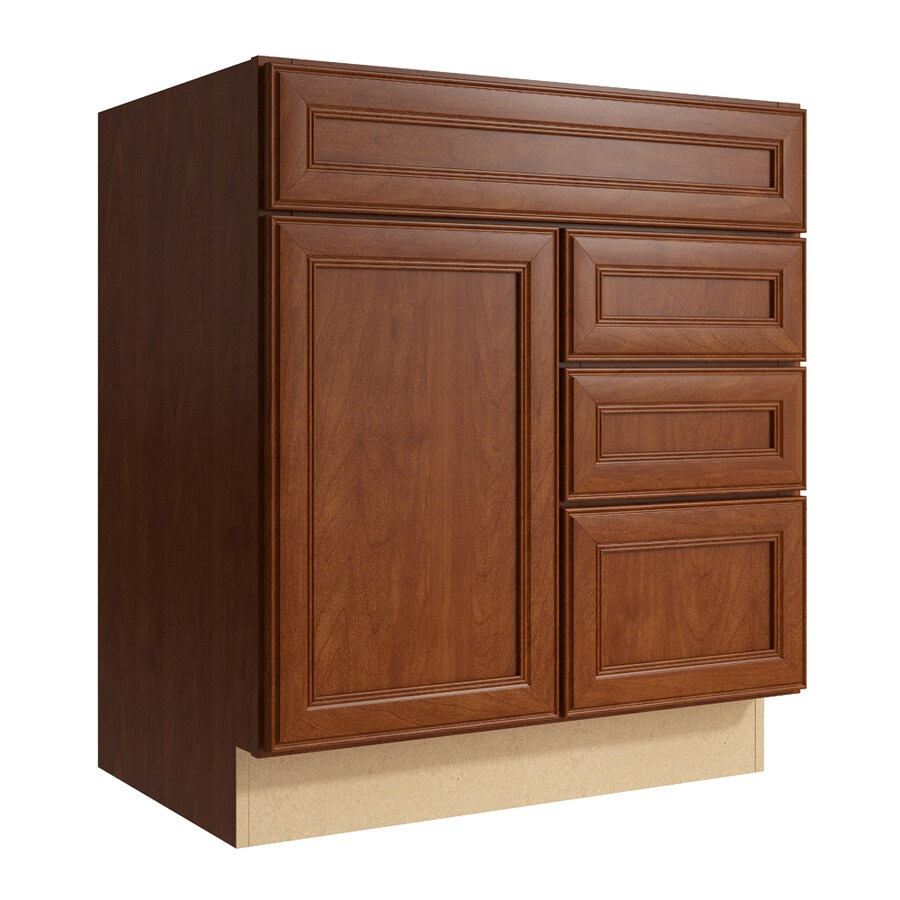 KraftMaid Momentum Sable Bellamy 1-Door 3-Drawer Right Base Cabinet (Common: 30-in x 21-in x 34.5-in; Actual: 30-in x 21-in x 34.5-in)
