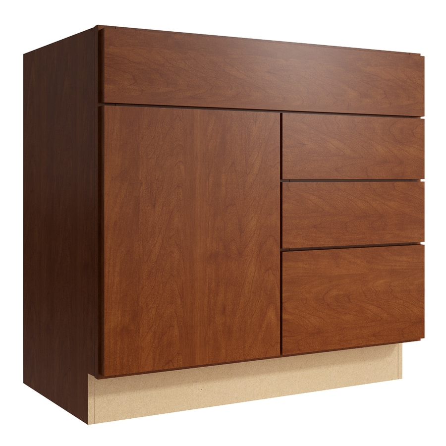 KraftMaid Momentum Sable Frontier 1-Door 3-Drawer Right Base Cabinet (Common: 36-in x 21-in x 34.5-in; Actual: 36-in x 21-in x 34.5-in)
