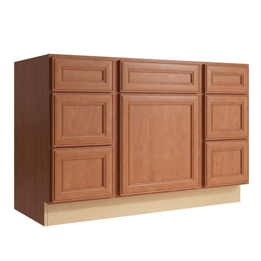 KraftMaid Momentum Hazelnut Bellamy 1-Door 6-Drawer Base Cabinet (Common: 48-in x 21-in x 31.5-in; Actual: 48-in x 21-in x 31.5-in)