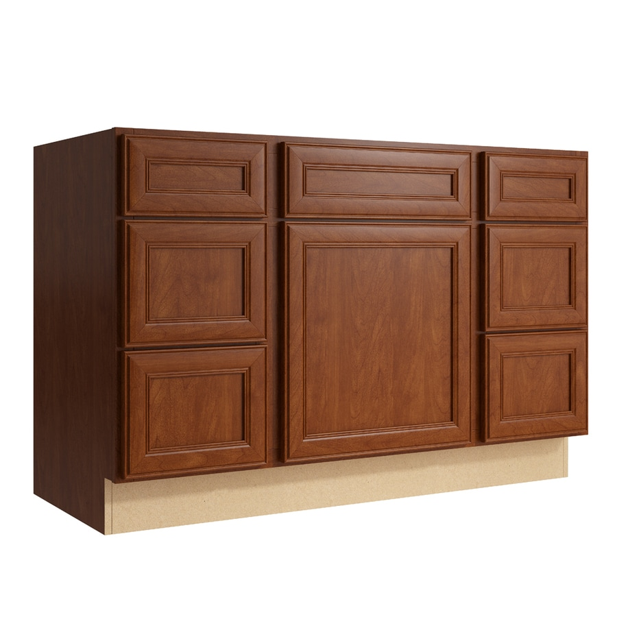 KraftMaid Momentum Sable Bellamy 1-Door 6-Drawer Base Cabinet (Common: 48-in x 21-in x 31.5-in; Actual: 48-in x 21-in x 31.5-in)