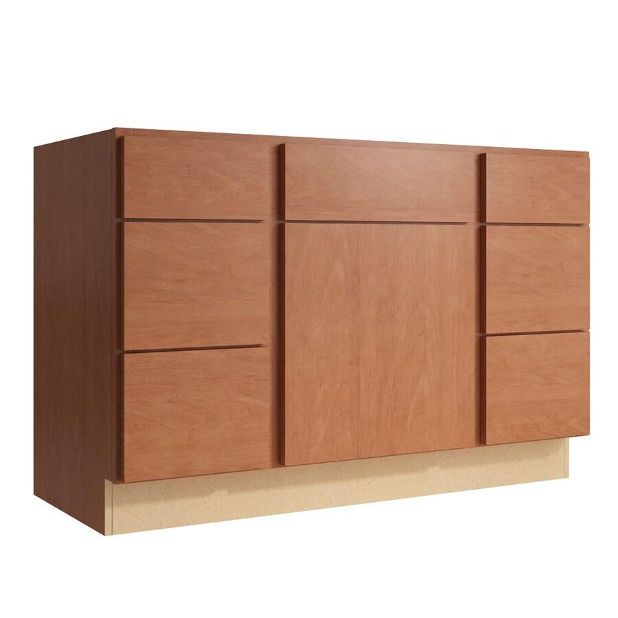 KraftMaid Momentum Hazelnut Frontier 1-Door 6-Drawer Base Cabinet (Common: 48-in x 21-in x 31.5-in; Actual: 48-in x 21-in x 31.5-in)
