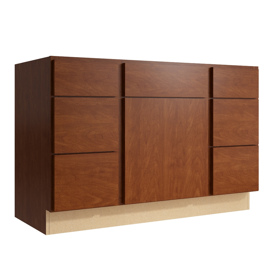 KraftMaid Momentum Sable Frontier 1-Door 6-Drawer Base Cabinet (Common: 48-in x 21-in x 31.5-in; Actual: 48-in x 21-in x 31.5-in)