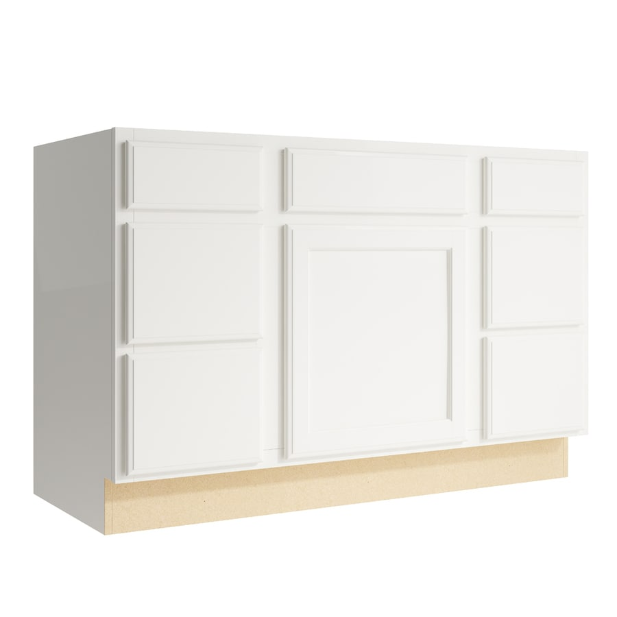 KraftMaid Momentum Cotton Kingston 1-Door 6-Drawer Base Cabinet (Common: 48-in x 21-in x 31.5-in; Actual: 48-in x 21-in x 31.5-in)