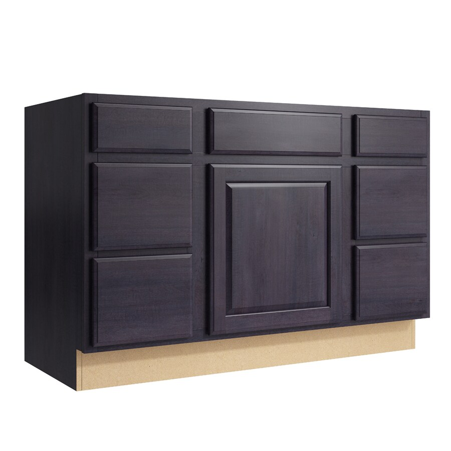 KraftMaid Momentum Dusk Settler 1-Door 6-Drawer Base Cabinet (Common: 48-in x 21-in x 31.5-in; Actual: 48-in x 21-in x 31.5-in)