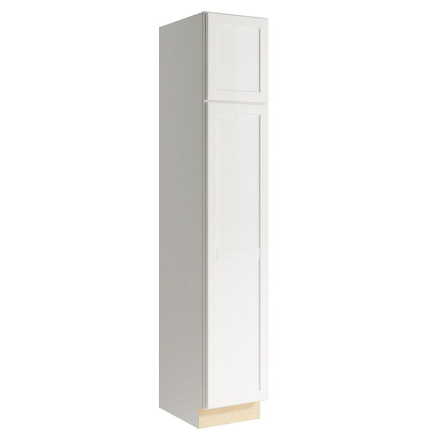 KraftMaid Momentum Cotton Paxton 2-Door Left-Hinged Linen Cabinet (Common 15-in x 21-in x 84-in; Actual 15-in x 21-in x 84-in)
