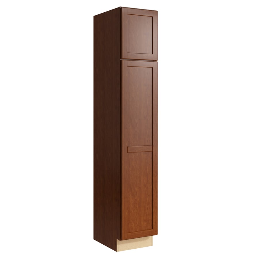 KraftMaid Momentum Sable Paxton 2-Door Left-Hinged Linen Cabinet (Common 15-in x 21-in x 84-in; Actual 15-in x 21-in x 84-in)