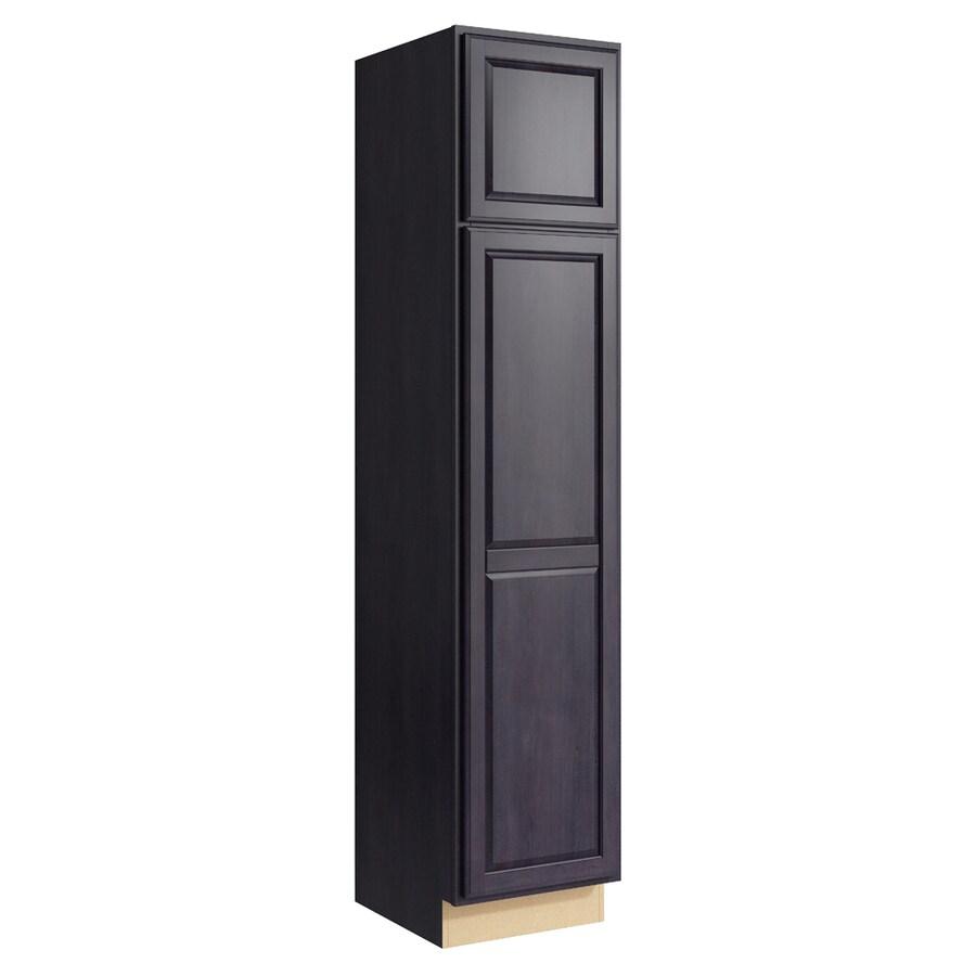 KraftMaid Momentum Dusk Settler 2-Door Right-Hinged Linen Cabinet (Common 18-in x 21-in x 84-in; Actual 18-in x 21-in x 84-in)