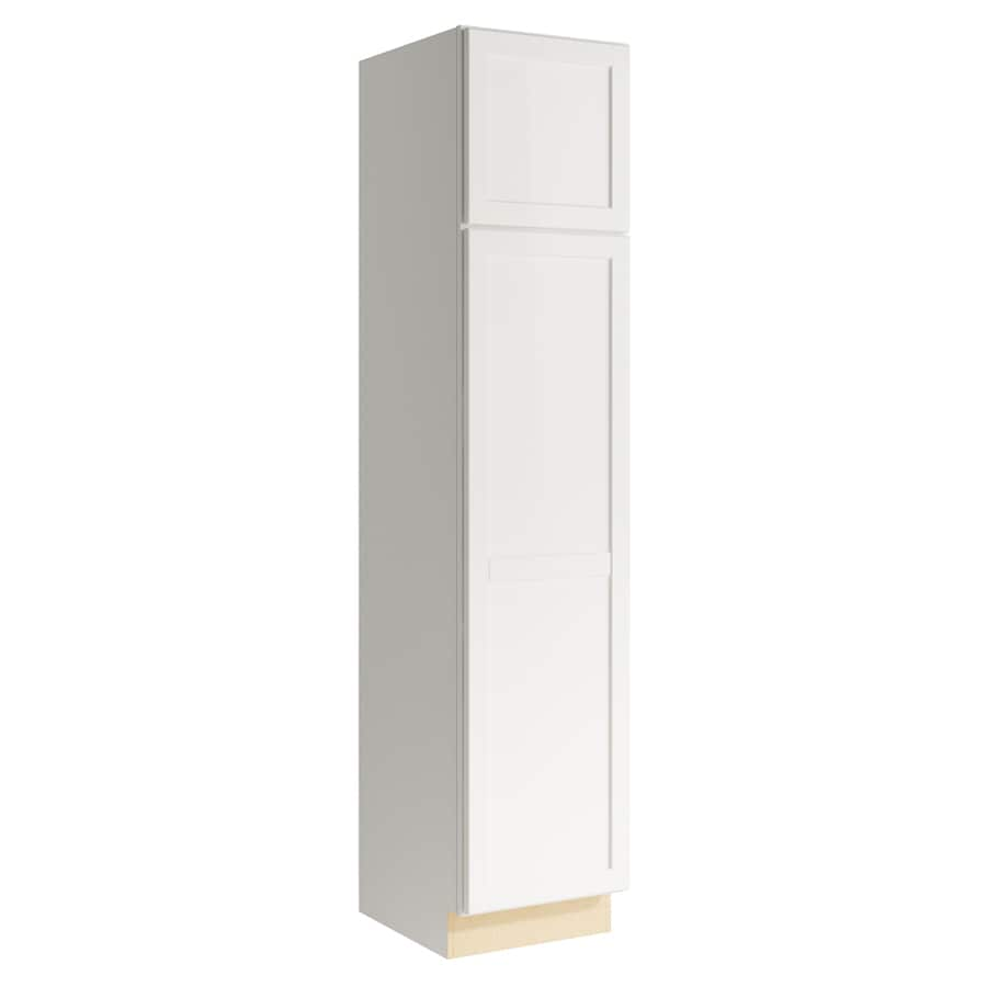 KraftMaid Momentum Cotton Paxton 2-Door Left-Hinged Linen Cabinet (Common 18-in x 21-in x 84-in; Actual 18-in x 21-in x 84-in)
