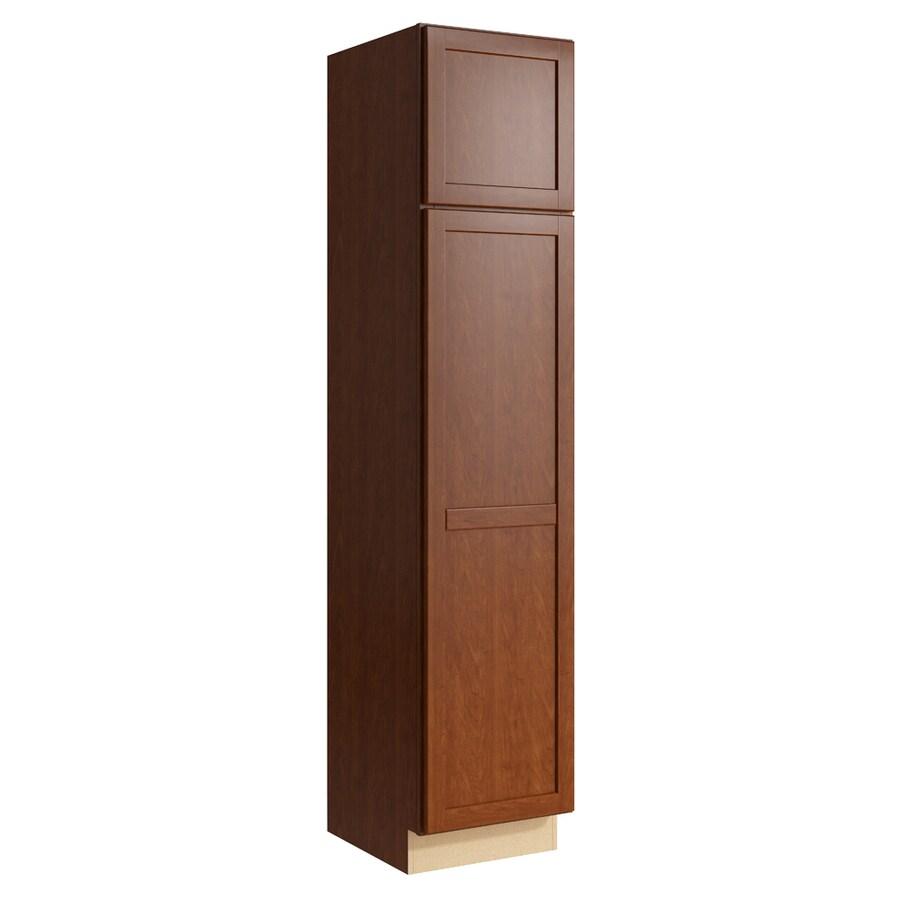 KraftMaid Momentum Sable Paxton 2-Door Left-Hinged Linen Cabinet (Common 18-in x 21-in x 84-in; Actual 18-in x 21-in x 84-in)