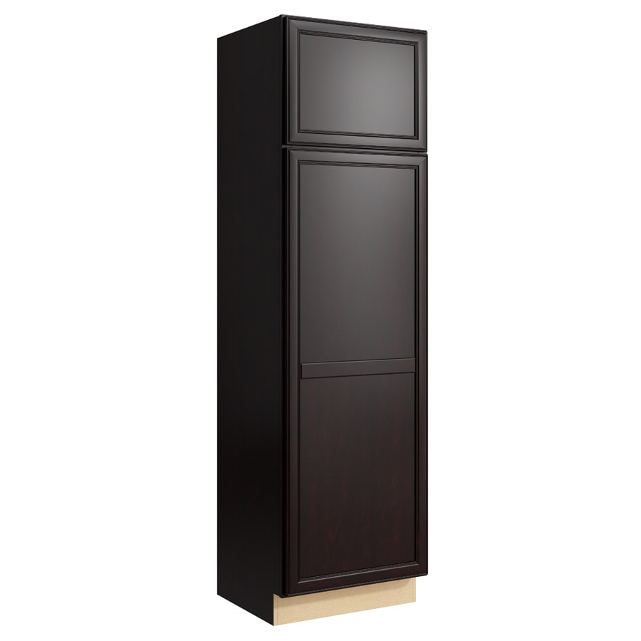 KraftMaid Momentum Kona Bellamy 2-Door Right-Hinged Linen Cabinet (Common 24-in x 21-in x 84-in; Actual 24-in x 21-in x 84-in)
