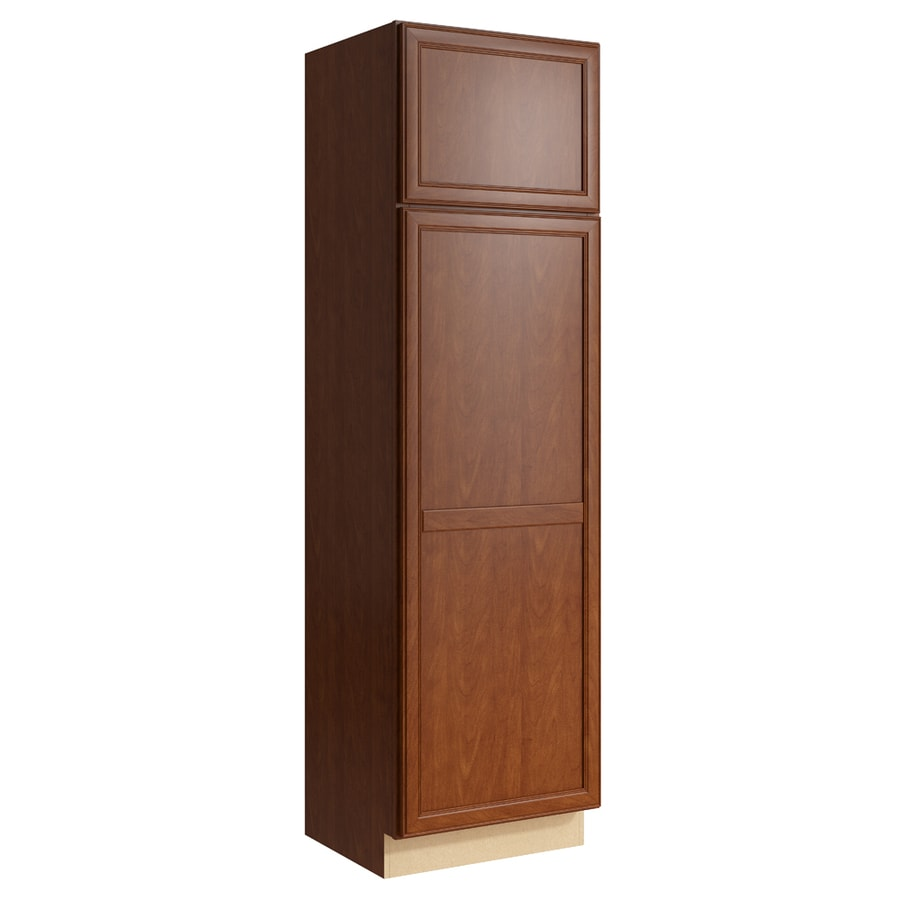KraftMaid Momentum Sable Bellamy 2-Door Right-Hinged Linen Cabinet (Common 24-in x 21-in x 84-in; Actual 24-in x 21-in x 84-in)