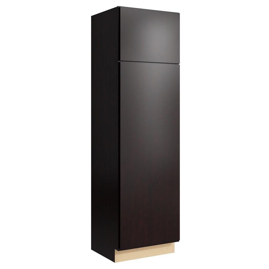 KraftMaid Momentum Kona Frontier 2-Door Right-Hinged Linen Cabinet (Common 24-in x 21-in x 84-in; Actual 24-in x 21-in x 84-in)