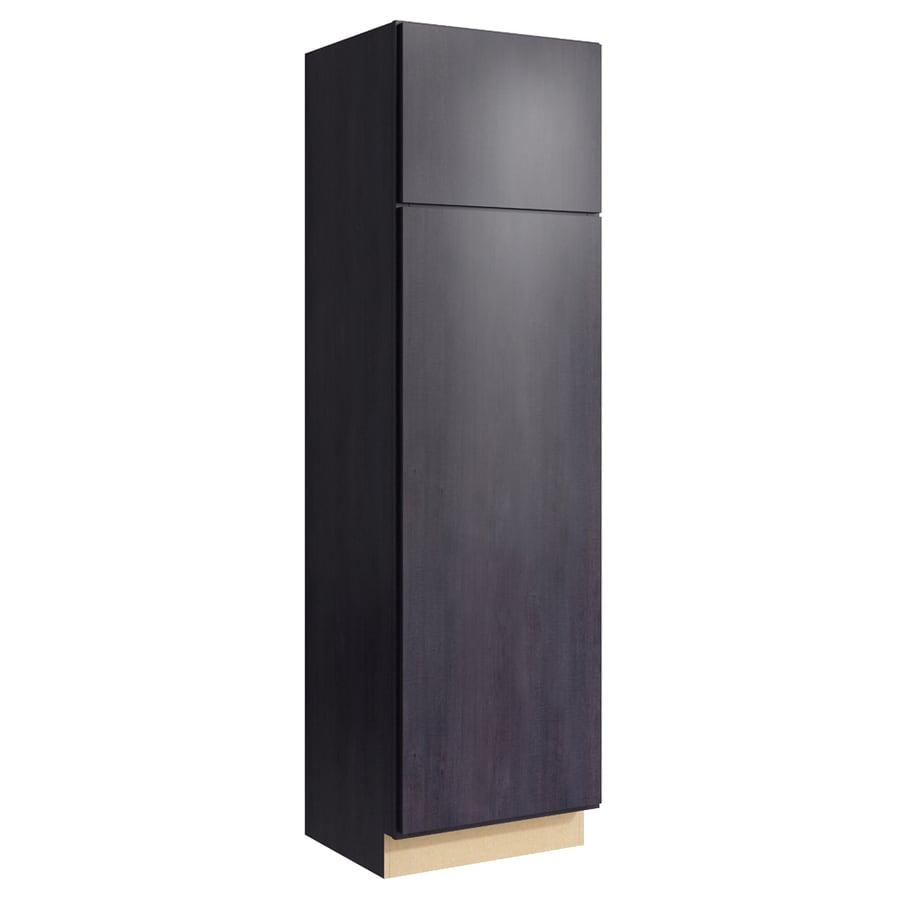 KraftMaid Momentum Dusk Frontier 2-Door Right-Hinged Linen Cabinet (Common 24-in x 21-in x 84-in; Actual 24-in x 21-in x 84-in)