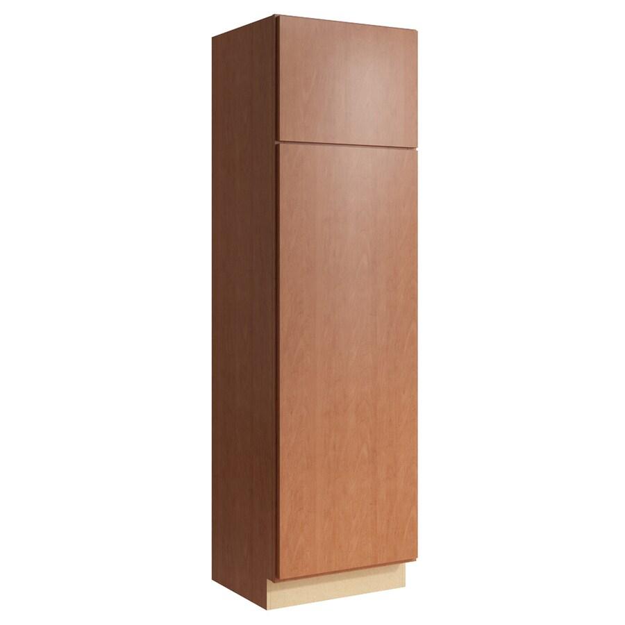 KraftMaid Momentum Hazelnut Frontier 2-Door Right-Hinged Linen Cabinet (Common 24-in x 21-in x 84-in; Actual 24-in x 21-in x 84-in)