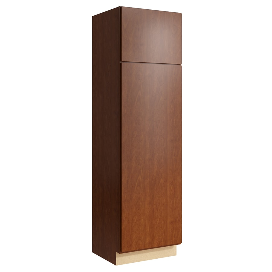 KraftMaid Momentum Sable Frontier 2-Door Right-Hinged Linen Cabinet (Common 24-in x 21-in x 84-in; Actual 24-in x 21-in x 84-in)