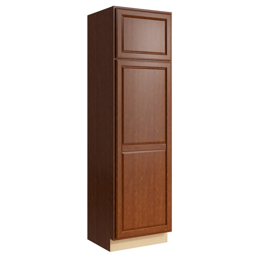 KraftMaid Momentum Sable Settler 2-Door Right-Hinged Linen Cabinet (Common 24-in x 21-in x 84-in; Actual 24-in x 21-in x 84-in)