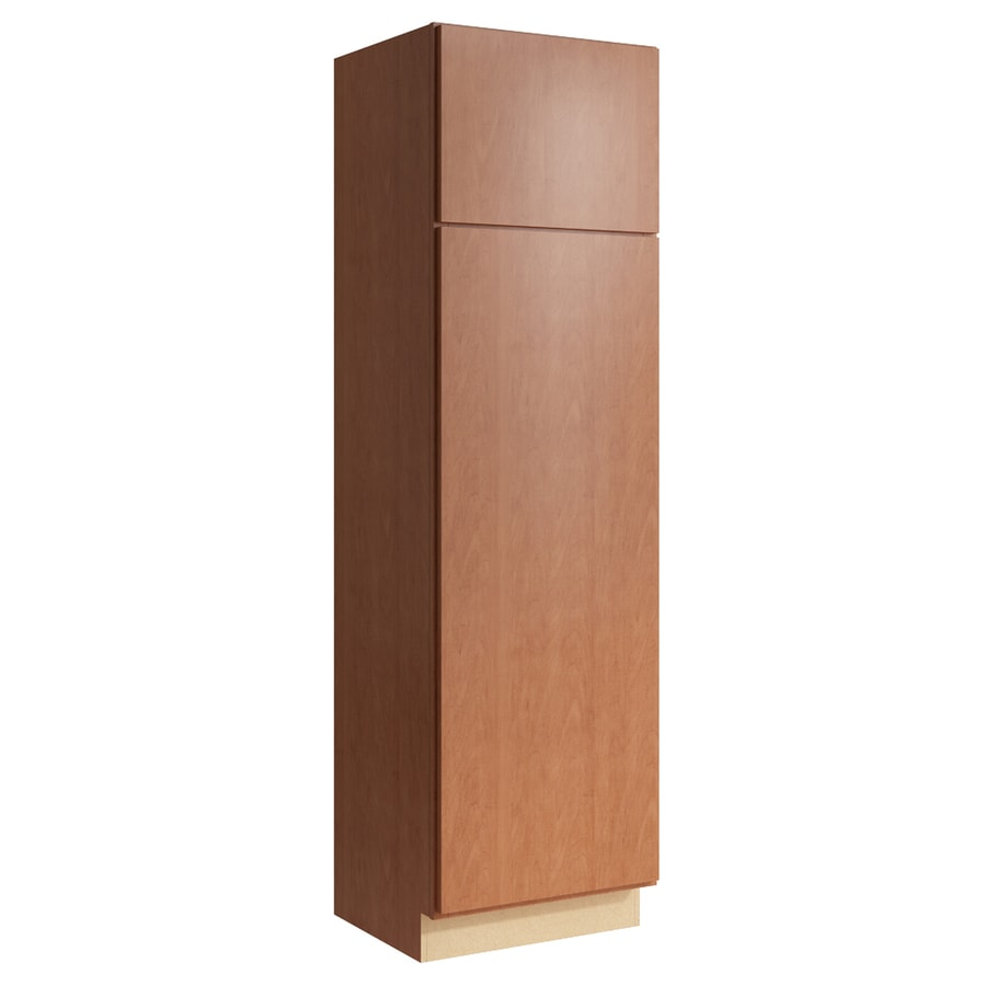 KraftMaid Momentum Hazelnut Frontier 2-Door Left-Hinged Linen Cabinet (Common 24-in x 21-in x 84-in; Actual 24-in x 21-in x 84-in)