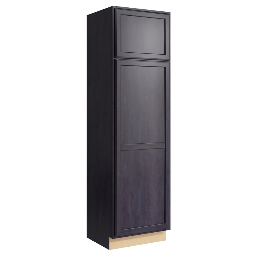 KraftMaid Momentum Dusk Kingston 2-Door Left-Hinged Linen Cabinet (Common 24-in x 21-in x 84-in; Actual 24-in x 21-in x 84-in)