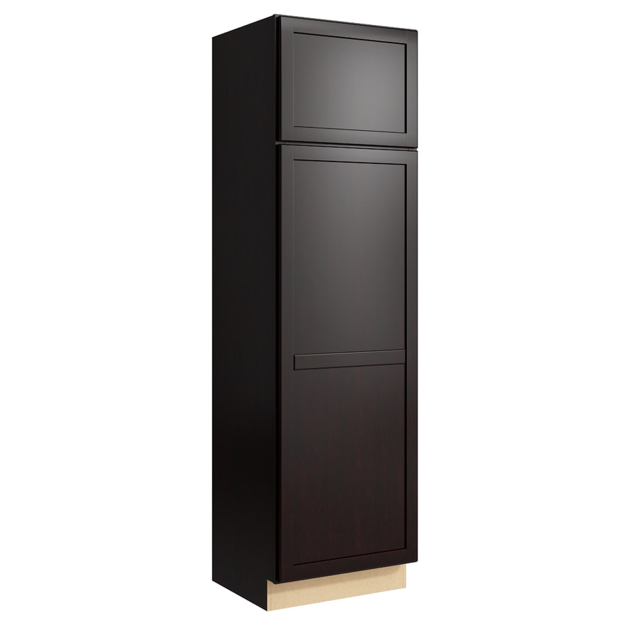 KraftMaid Momentum Kona Paxton 2-Door Left-Hinged Linen Cabinet (Common 24-in x 21-in x 84-in; Actual 24-in x 21-in x 84-in)