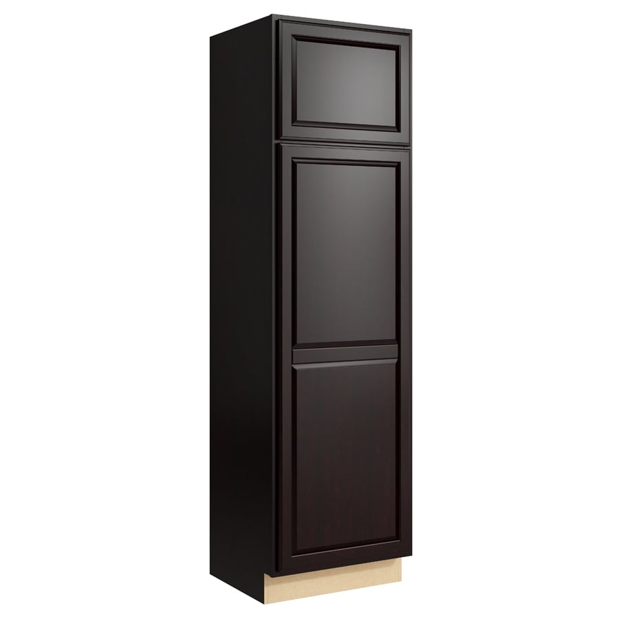 KraftMaid Momentum Kona Settler 2-Door Left-Hinged Linen Cabinet (Common 24-in x 21-in x 84-in; Actual 24-in x 21-in x 84-in)