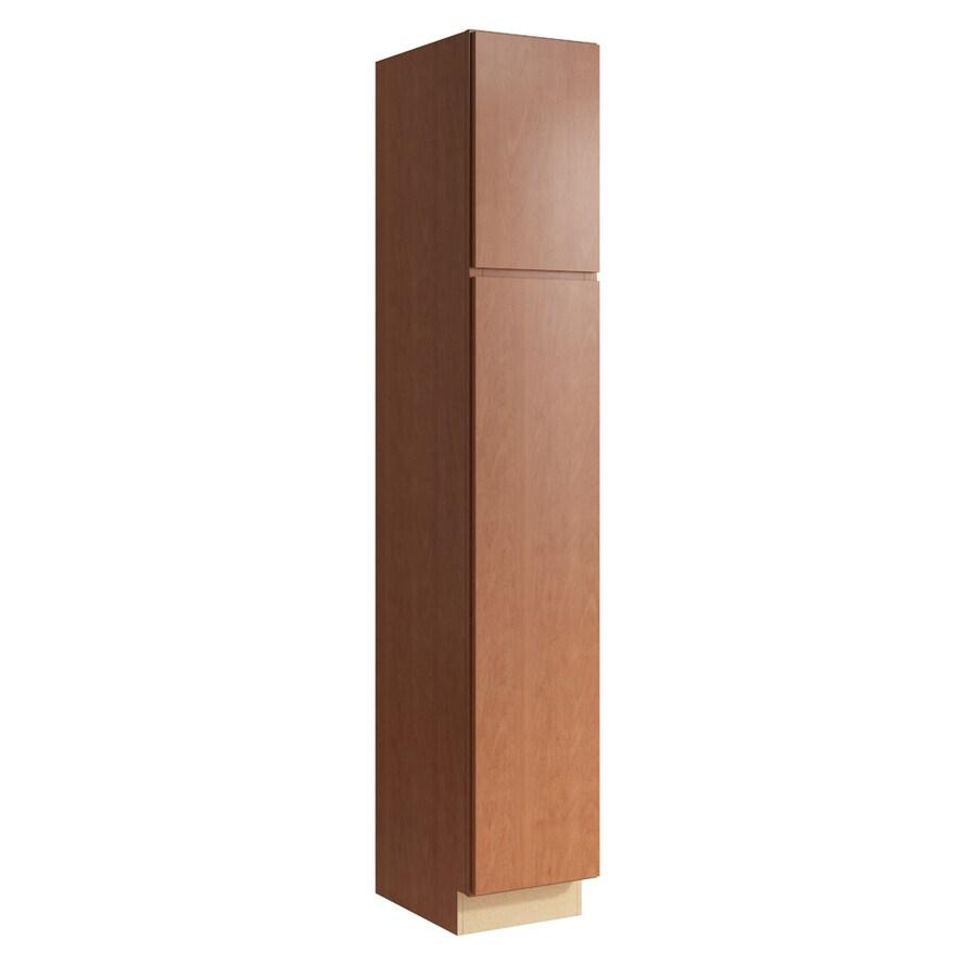 KraftMaid Momentum Hazelnut Frontier 2-Door Right-Hinged Linen Cabinet (Common 15-in x 21-in x 90-in; Actual 15-in x 21-in x 90-in)