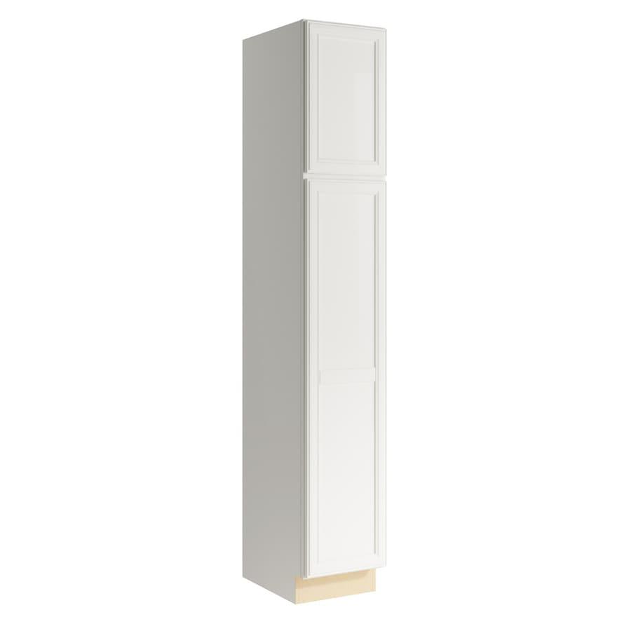 KraftMaid Momentum Cotton Bellamy 2-Door Left-Hinged Linen Cabinet (Common 15-in x 21-in x 90-in; Actual 15-in x 21-in x 90-in)