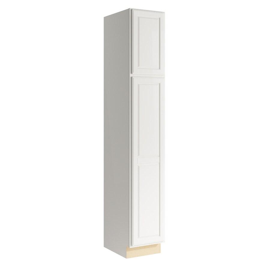 KraftMaid Momentum Cotton Settler 2-Door Left-Hinged Linen Cabinet (Common 15-in x 21-in x 90-in; Actual 15-in x 21-in x 90-in)