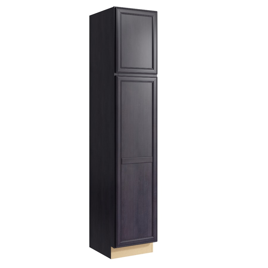 KraftMaid Momentum Dusk Bellamy 2-Door Right-Hinged Linen Cabinet (Common 18-in x 21-in x 90-in; Actual 18-in x 21-in x 90-in)