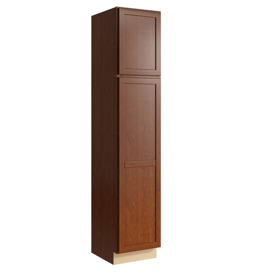 KraftMaid Momentum Sable Paxton 2-Door Right-Hinged Linen Cabinet (Common 18-in x 21-in x 90-in; Actual 18-in x 21-in x 90-in)