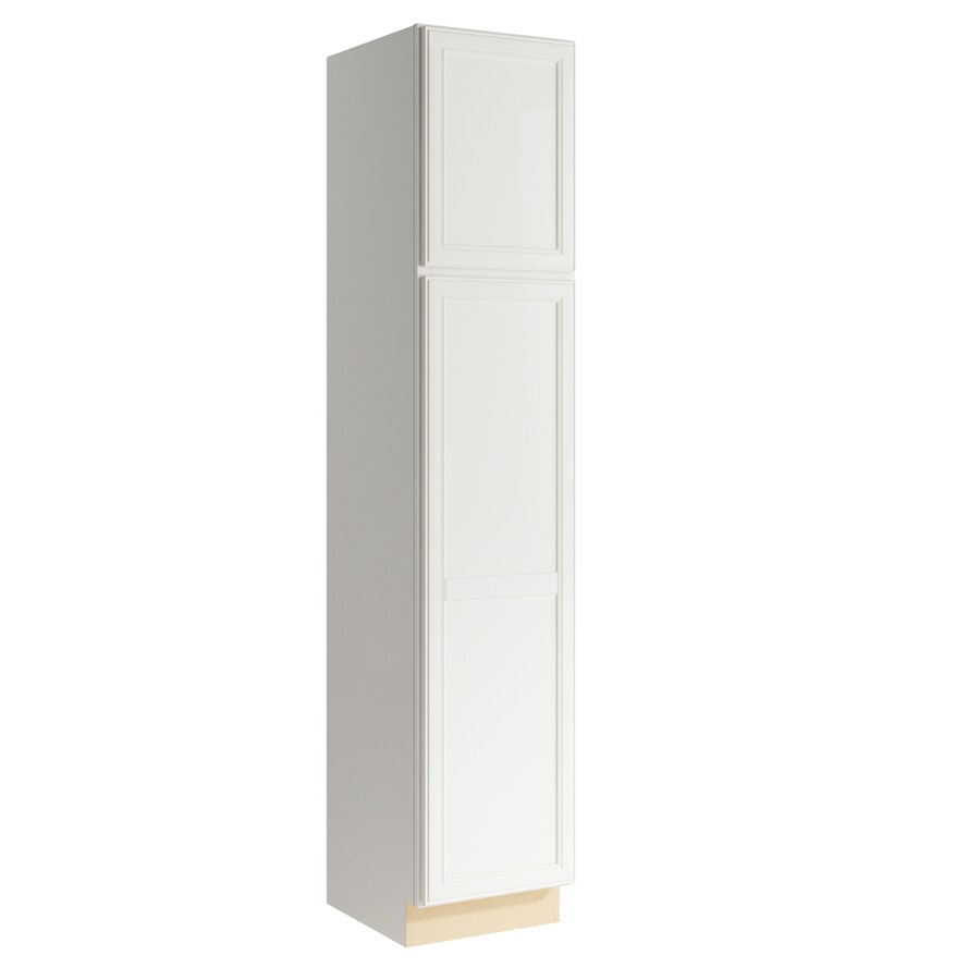 KraftMaid Momentum Cotton Bellamy 2-Door Left-Hinged Linen Cabinet (Common 18-in x 21-in x 90-in; Actual 18-in x 21-in x 90-in)