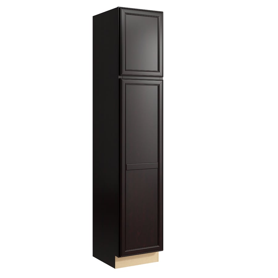 KraftMaid Momentum Kona Bellamy 2-Door Left-Hinged Linen Cabinet (Common 18-in x 21-in x 90-in; Actual 18-in x 21-in x 90-in)