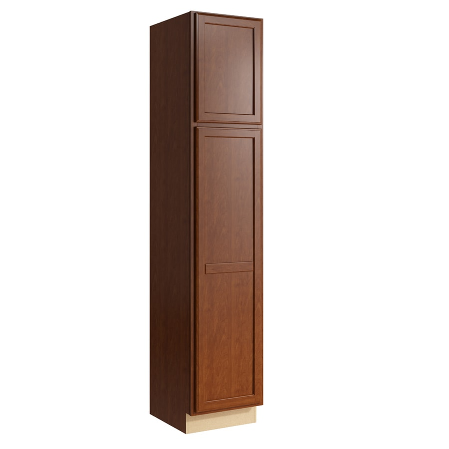 KraftMaid Momentum Sable Kingston 2-Door Left-Hinged Linen Cabinet (Common 18-in x 21-in x 90-in; Actual 18-in x 21-in x 90-in)