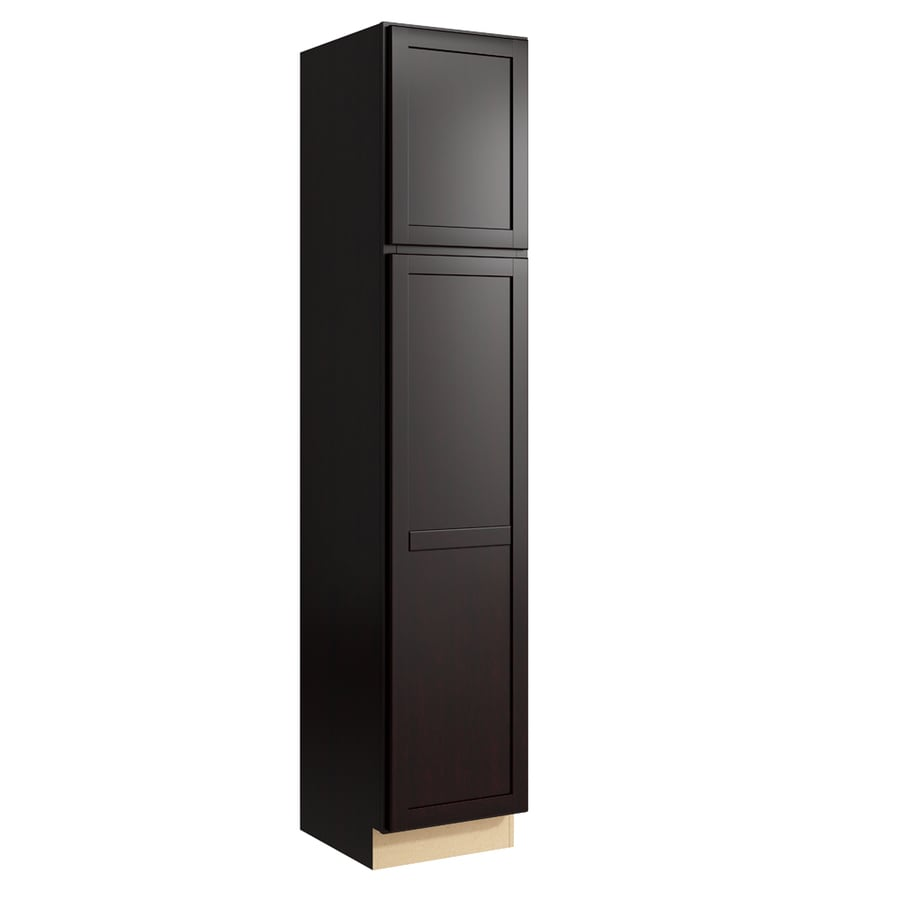 KraftMaid Momentum Kona Paxton 2-Door Left-Hinged Linen Cabinet (Common 18-in x 21-in x 90-in; Actual 18-in x 21-in x 90-in)