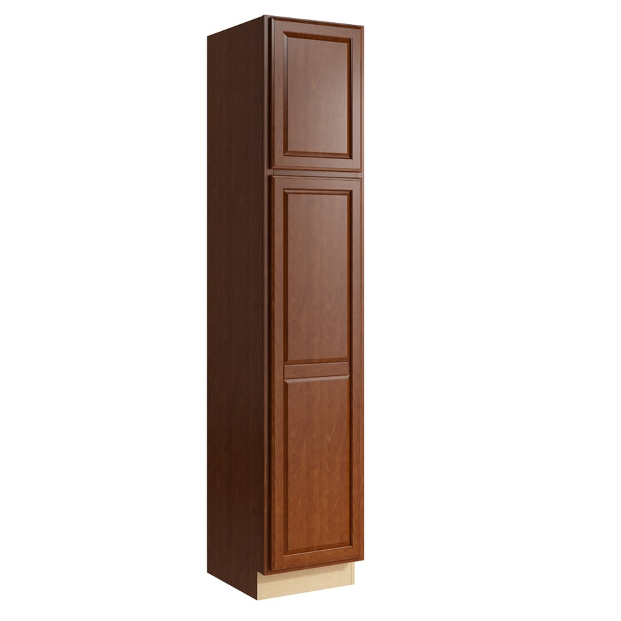 KraftMaid Momentum Sable Settler 2-Door Left-Hinged Linen Cabinet (Common 18-in x 21-in x 90-in; Actual 18-in x 21-in x 90-in)