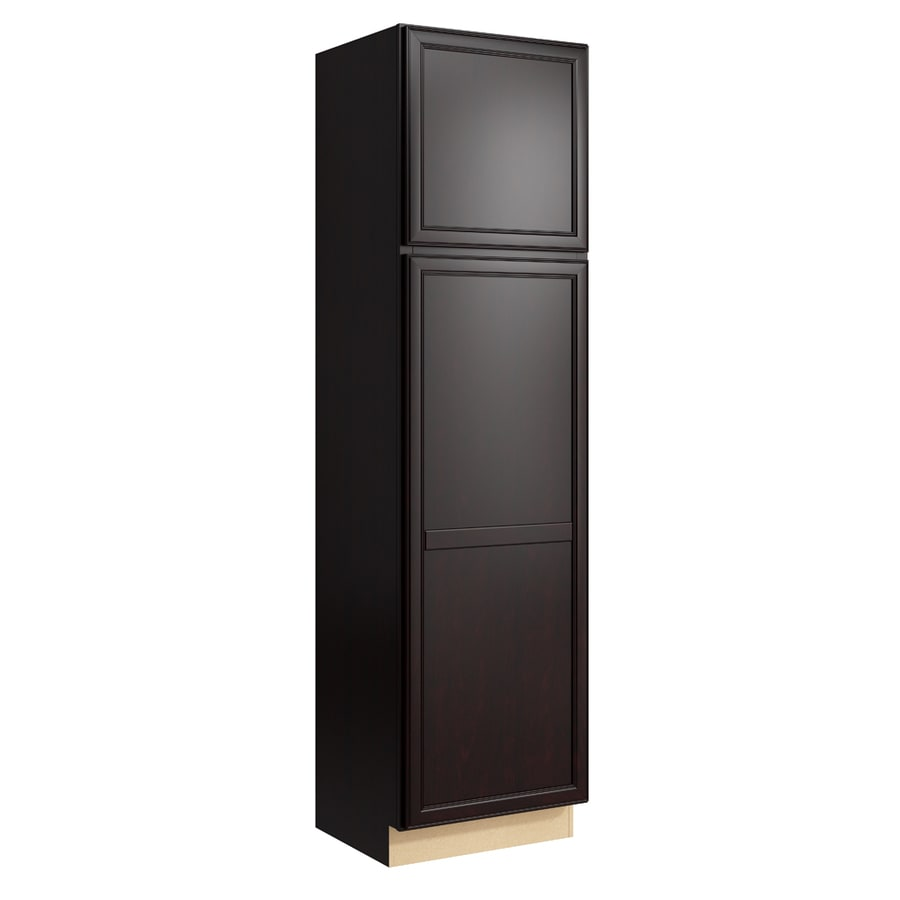 KraftMaid Momentum Kona Bellamy 2-Door Right-Hinged Linen Cabinet (Common 24-in x 21-in x 90-in; Actual 24-in x 21-in x 90-in)