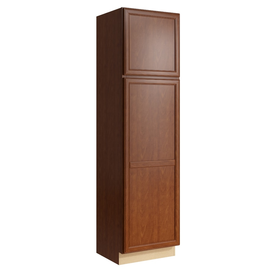 KraftMaid Momentum Sable Bellamy 2-Door Right-Hinged Linen Cabinet (Common 24-in x 21-in x 90-in; Actual 24-in x 21-in x 90-in)