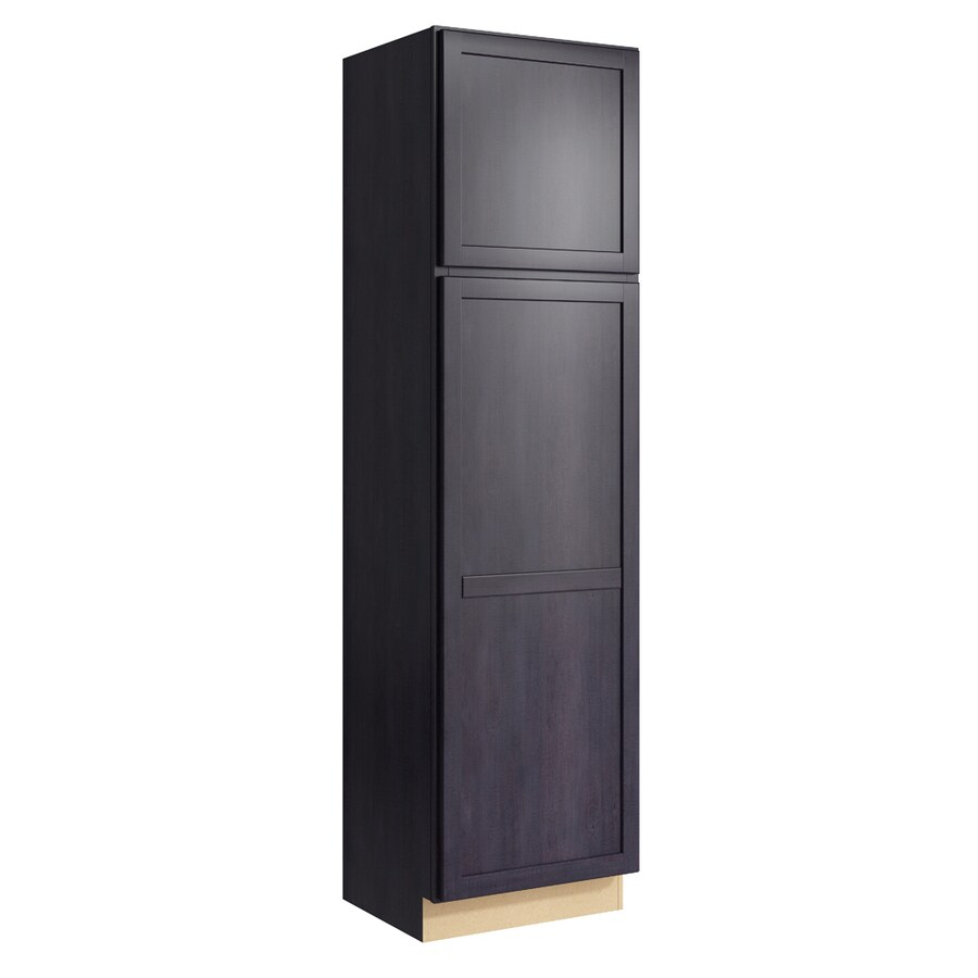 KraftMaid Momentum Dusk Paxton 2-Door Right-Hinged Linen Cabinet (Common 24-in x 21-in x 90-in; Actual 24-in x 21-in x 90-in)