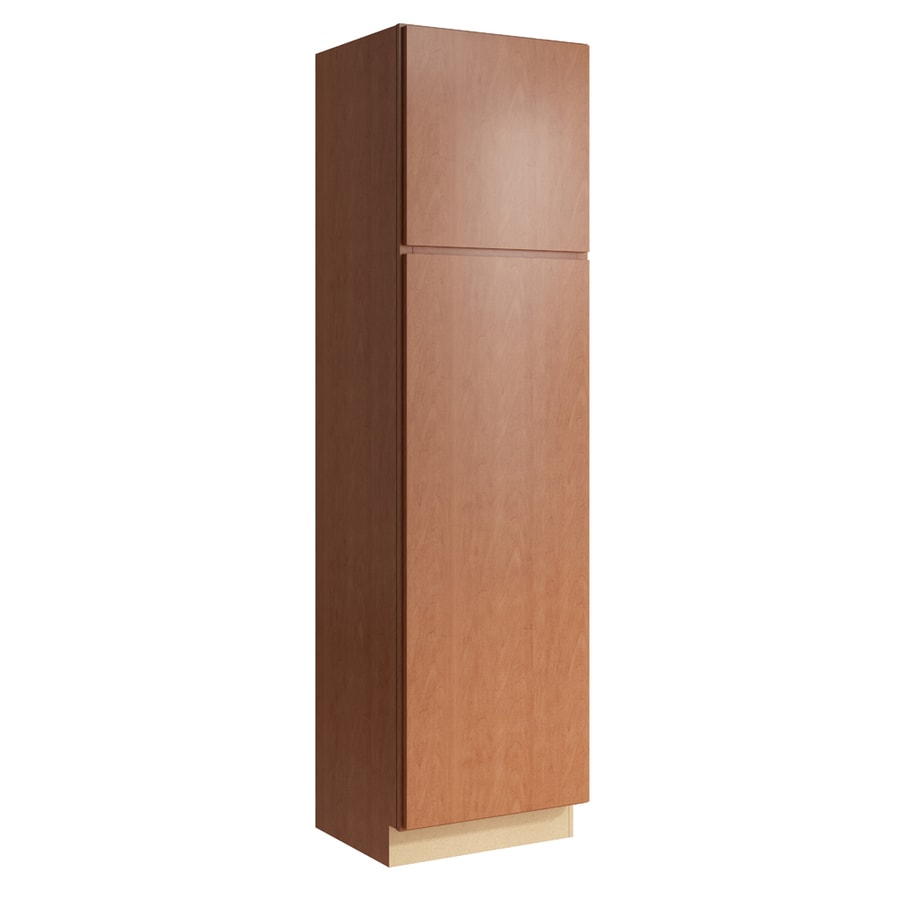 KraftMaid Momentum Hazelnut Frontier 2-Door Left-Hinged Linen Cabinet (Common 24-in x 21-in x 90-in; Actual 24-in x 21-in x 90-in)