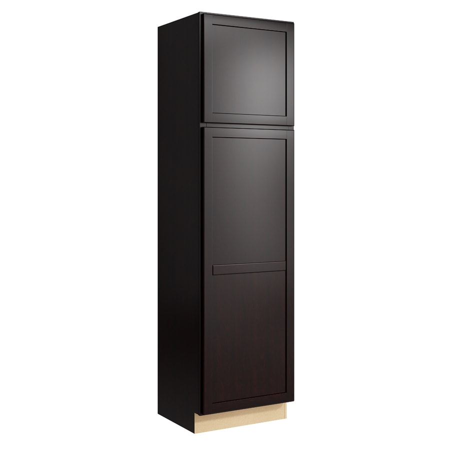 KraftMaid Momentum Kona Paxton 2-Door Left-Hinged Linen Cabinet (Common 24-in x 21-in x 90-in; Actual 24-in x 21-in x 90-in)