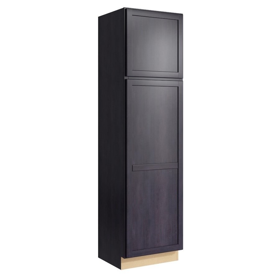 KraftMaid Momentum Dusk Paxton 2-Door Left-Hinged Linen Cabinet (Common 24-in x 21-in x 90-in; Actual 24-in x 21-in x 90-in)