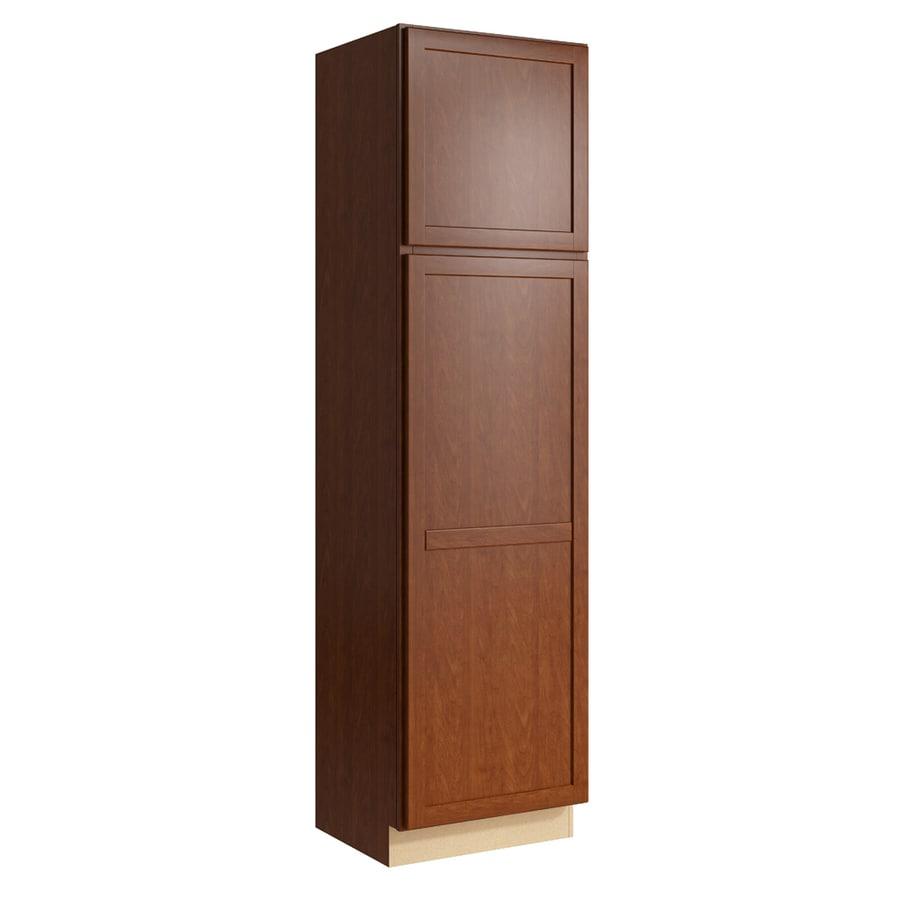 KraftMaid Momentum Sable Paxton 2-Door Left-Hinged Linen Cabinet (Common 24-in x 21-in x 90-in; Actual 24-in x 21-in x 90-in)