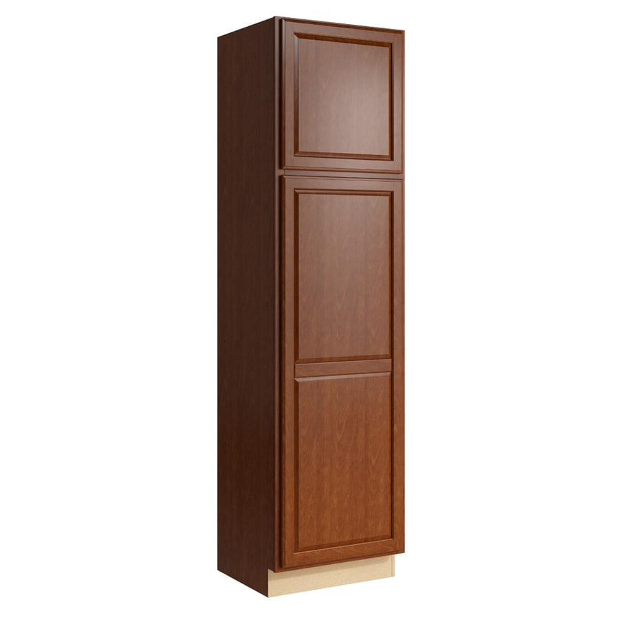 KraftMaid Momentum Sable Settler 2-Door Left-Hinged Linen Cabinet (Common 24-in x 21-in x 90-in; Actual 24-in x 21-in x 90-in)