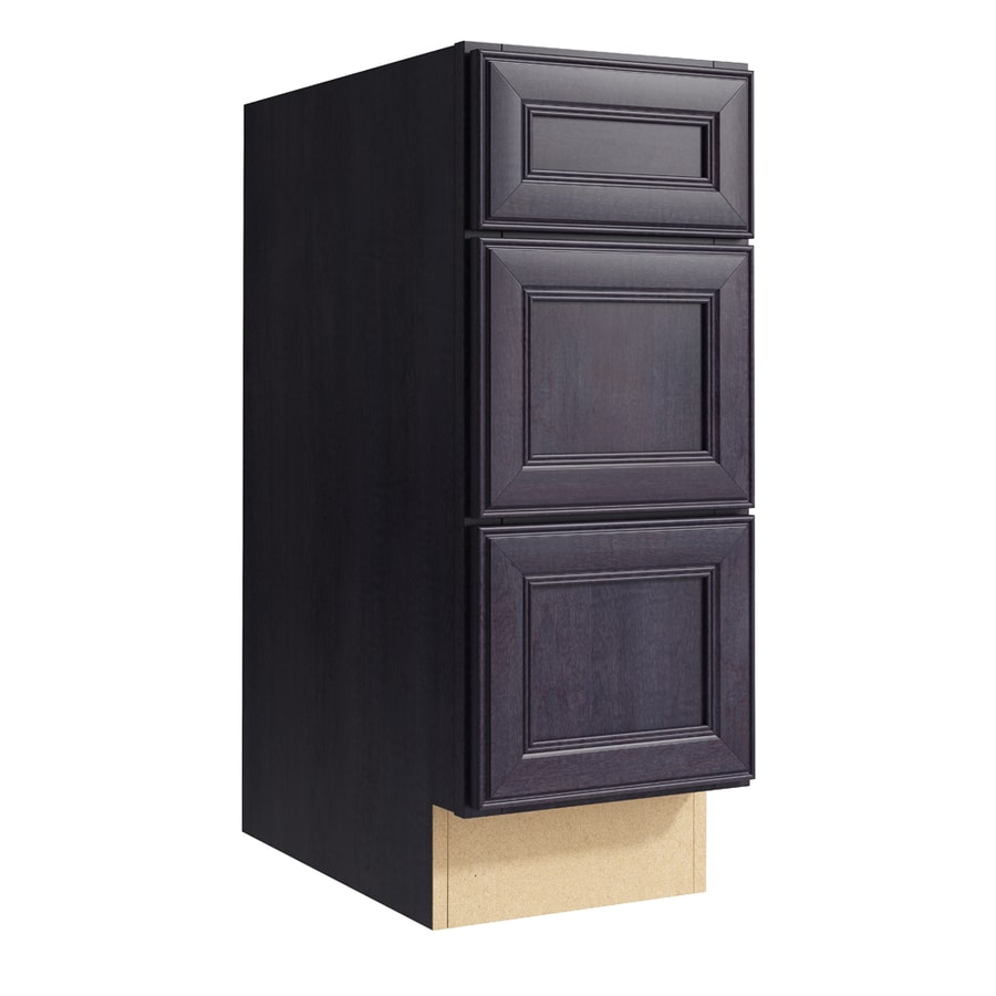 KraftMaid Momentum Dusk Bellamy 3-Drawer Bank (Common: 12-in x 21-in x 31.5-in; Actual: 12-in x 21-in x 31.5-in)