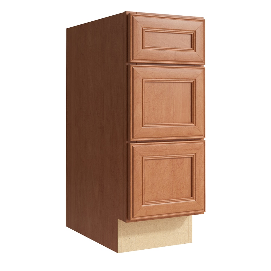 KraftMaid Momentum Hazelnut Bellamy 3-Drawer Bank (Common: 12-in x 21-in x 31.5-in; Actual: 12-in x 21-in x 31.5-in)
