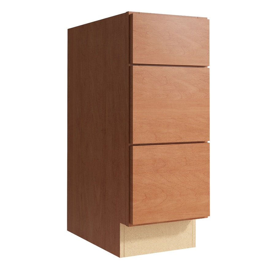 KraftMaid Momentum Hazelnut Frontier 3-Drawer Bank (Common: 12-in x 21-in x 31.5-in; Actual: 12-in x 21-in x 31.5-in)