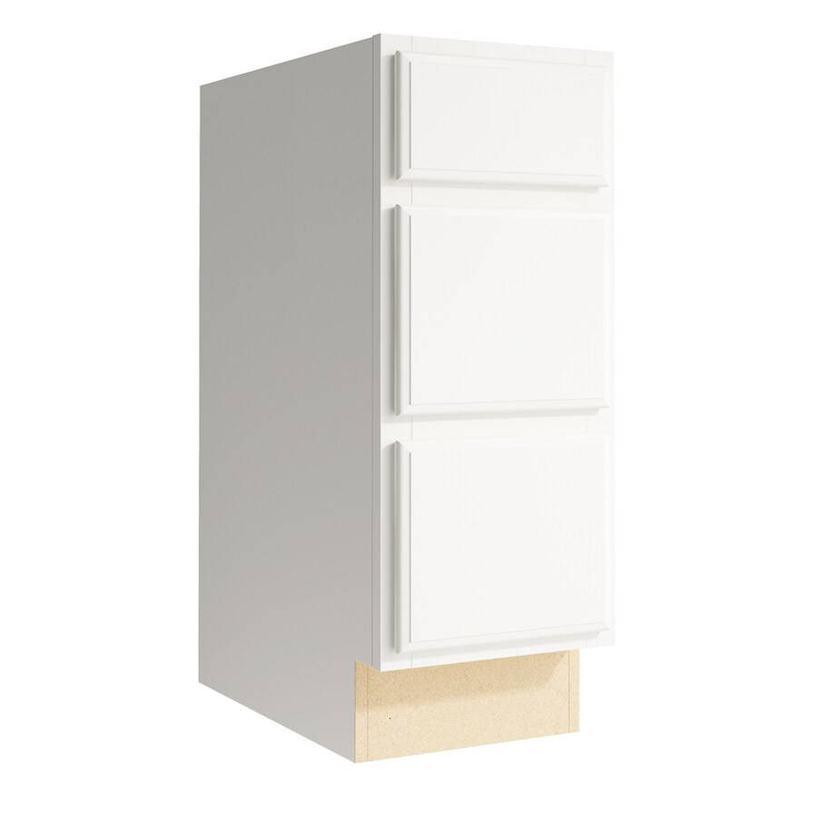 KraftMaid Momentum Cotton Kingston 3-Drawer Bank (Common: 12-in x 21-in x 31.5-in; Actual: 12-in x 21-in x 31.5-in)