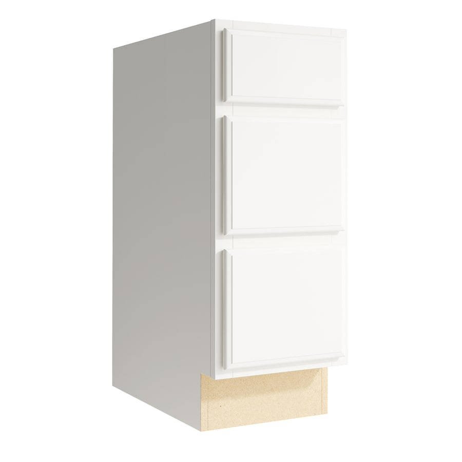 KraftMaid Momentum Cotton Settler 3-Drawer Bank (Common: 12-in x 21-in x 31.5-in; Actual: 12-in x 21-in x 31.5-in)