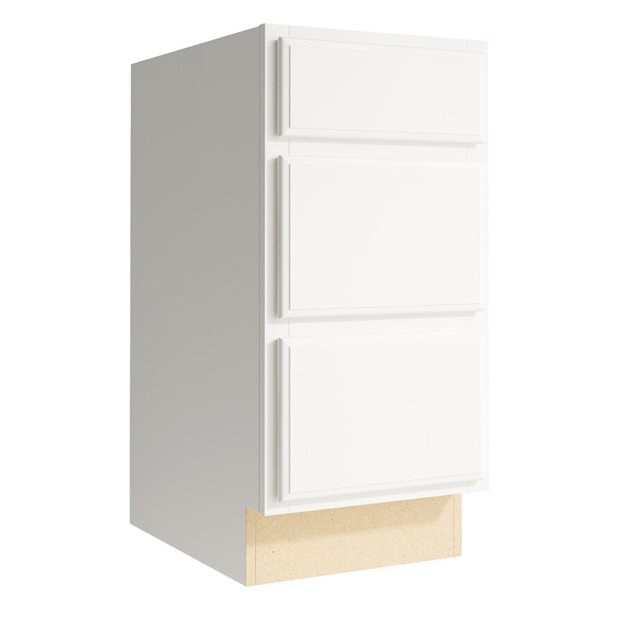KraftMaid Momentum Cotton Kingston 3-Drawer Bank (Common: 15-in x 21-in x 31.5-in; Actual: 15-in x 21-in x 31.5-in)